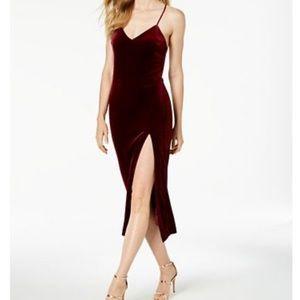 """bardot """"raven"""" burgundy velvet dress"""